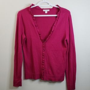 💥3/$30 NY & Company Pink Button Down Cardigan